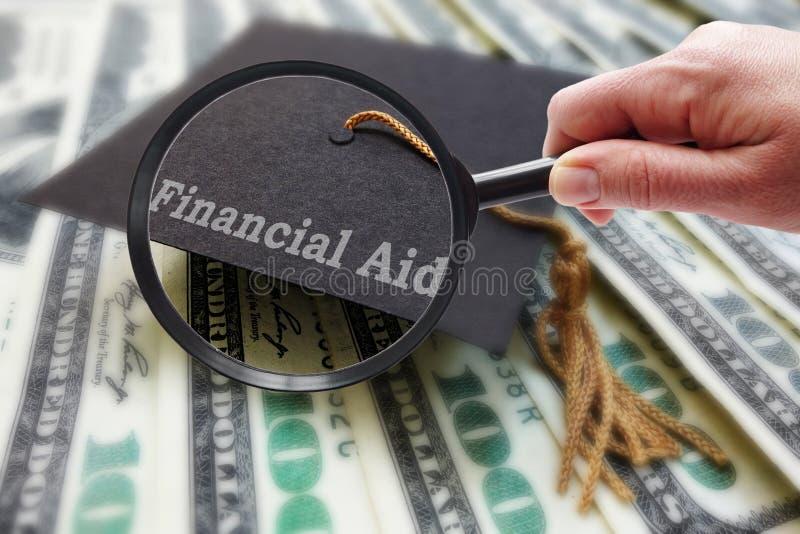 Amplie a ajuda econômica imagem de stock