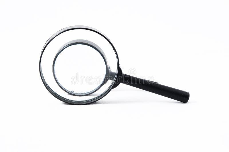 Amplie a lupa de vidro imagem de stock