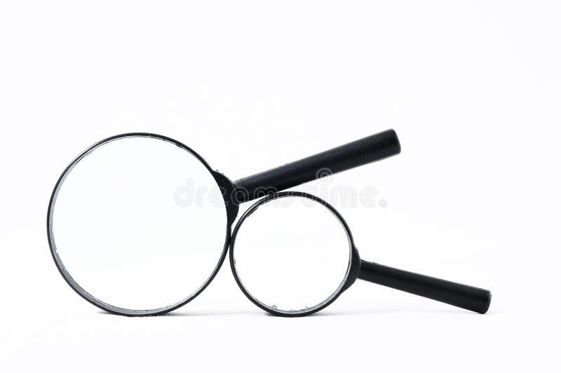 Amplie a lupa de vidro fotos de stock