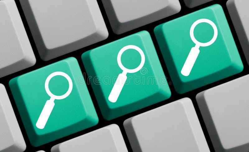 3 amplie símbolos no teclado de computador verde azul fotos de stock royalty free