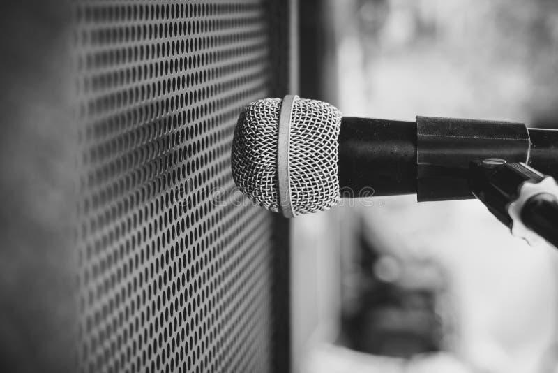 Amplificador combinado del micrófono imágenes de archivo libres de regalías