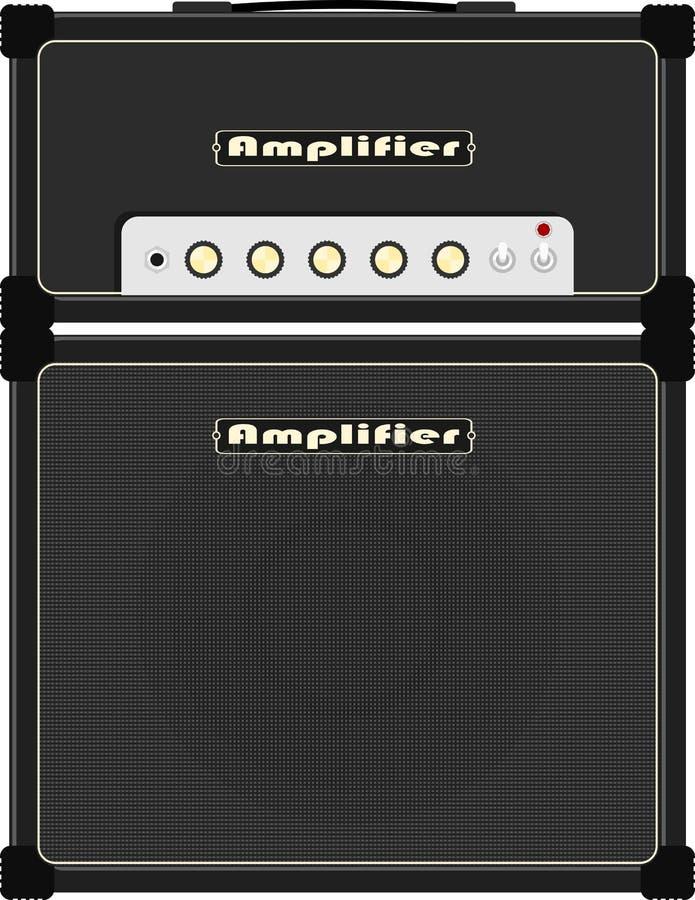 Amplificador de la guitarra stock de ilustración