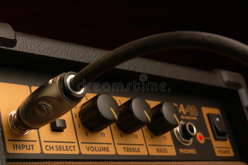 Amplificador de la guitarra foto de archivo libre de regalías