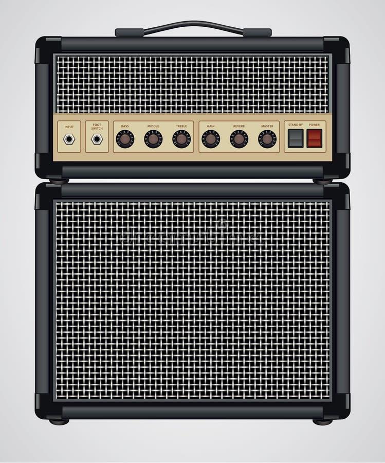 Amplificador de la guitarra del vector ilustración del vector