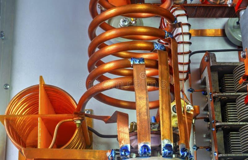Amplificador de potência da onda curta dos tubos de vácuo foto de stock royalty free