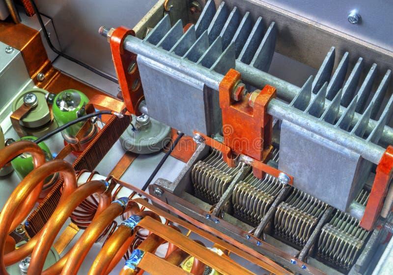 Amplificador de potência da onda curta dos tubos de vácuo fotos de stock