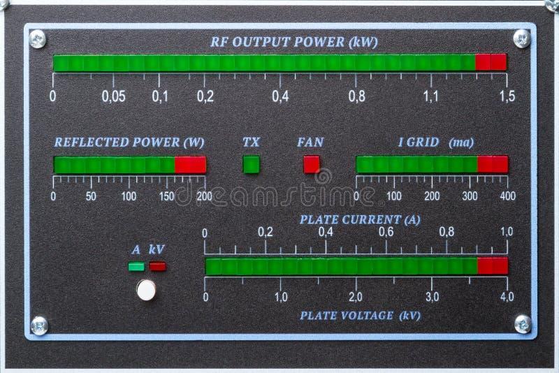 Amplificador de potência do painel do diodo emissor de luz fotos de stock