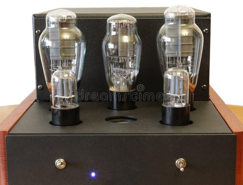 Amplificador del tubo de vacío fotografía de archivo libre de regalías