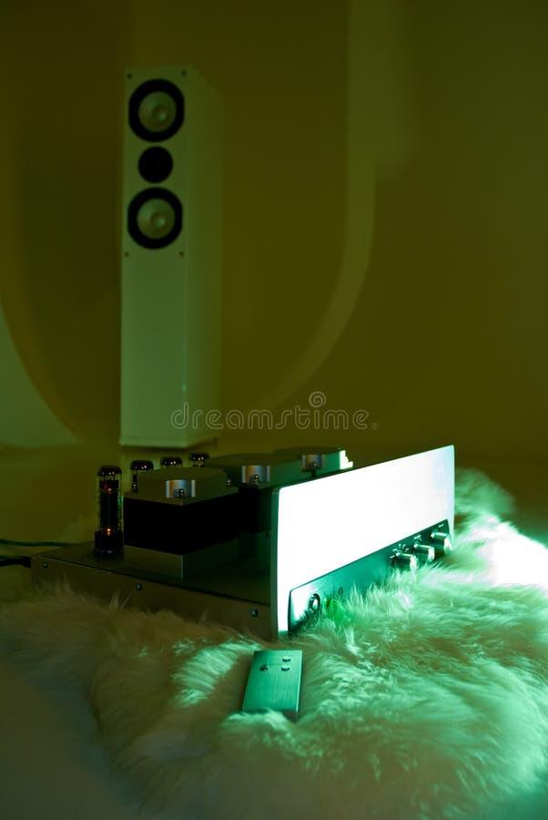 Amplificador e altofalante da torre imagens de stock royalty free