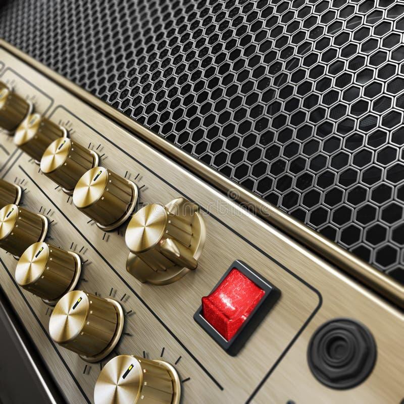 Amplificador genérico da guitarra da sensação do vintage ilustração 3D ilustração royalty free