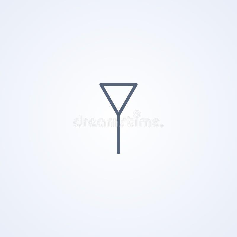 Amplificador, la mejor línea gris símbolo del vector libre illustration