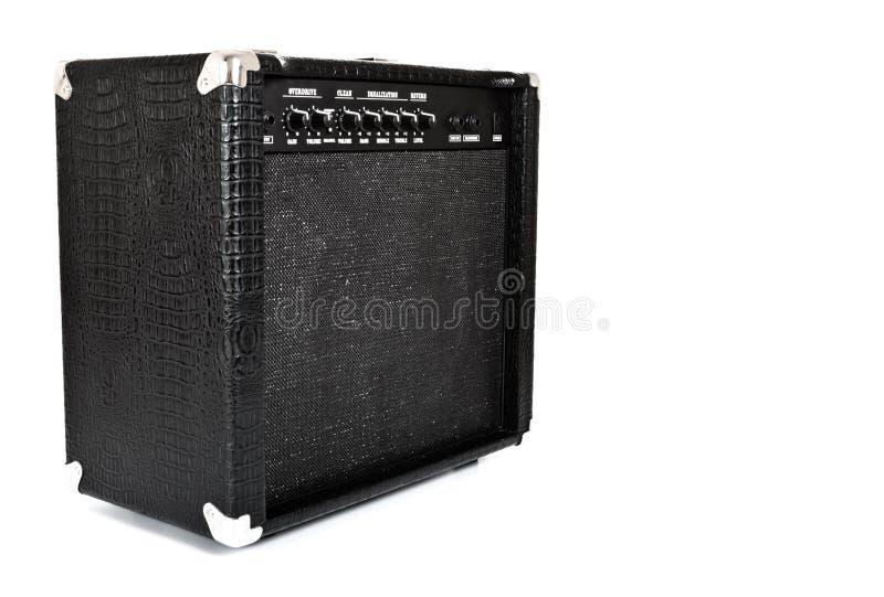 Amplificateur noir de guitare image libre de droits