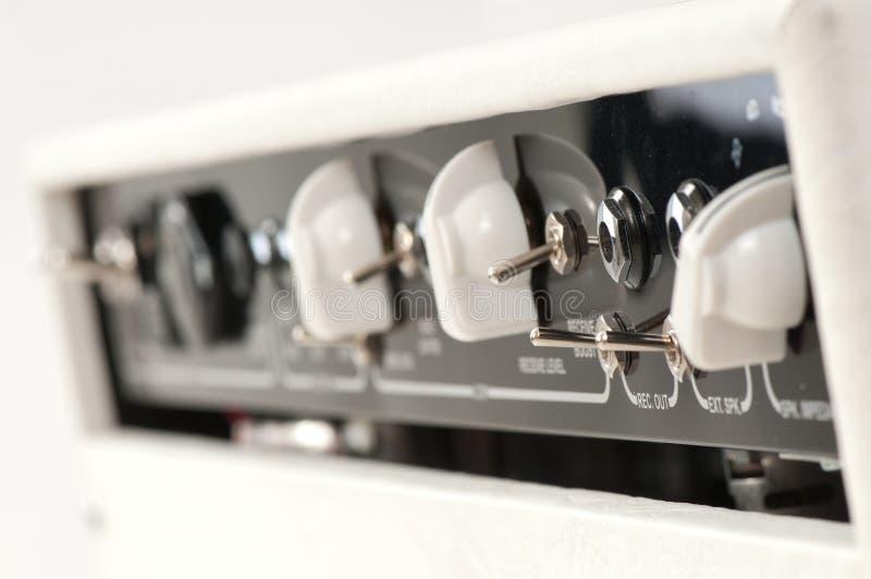 Amplificatore combinato della chitarra bianca fotografie stock libere da diritti
