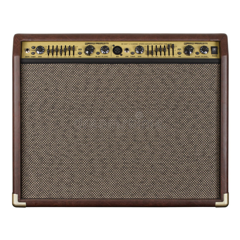 Amplificatore della chitarra acustico fotografia stock