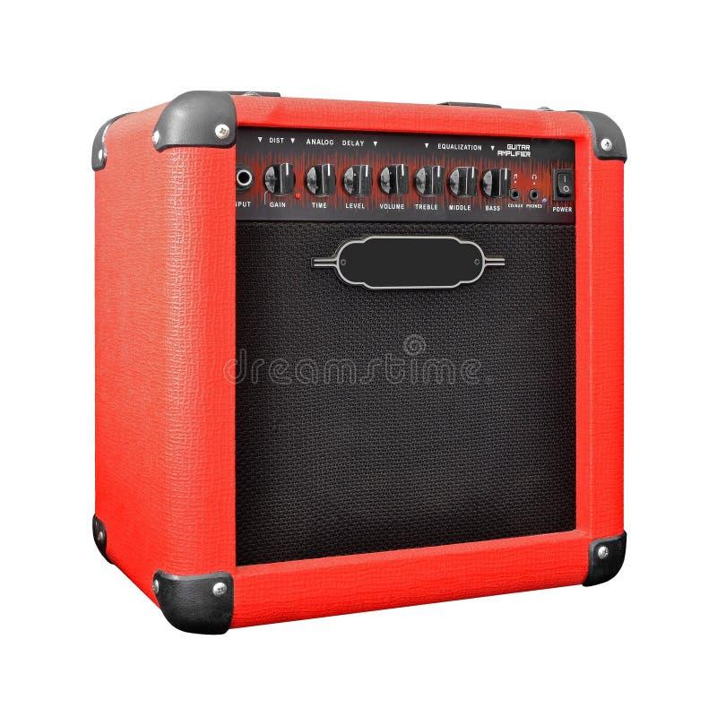 Amplificatore della chitarra isolato su bianco fotografie stock libere da diritti