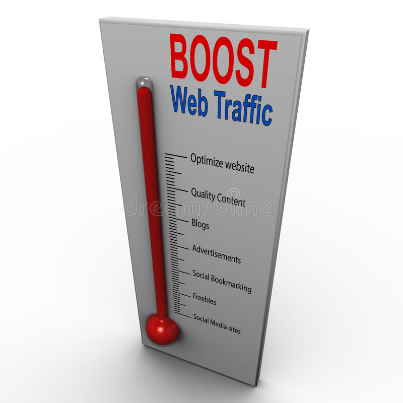 Amplifiez la circulation de Web illustration stock