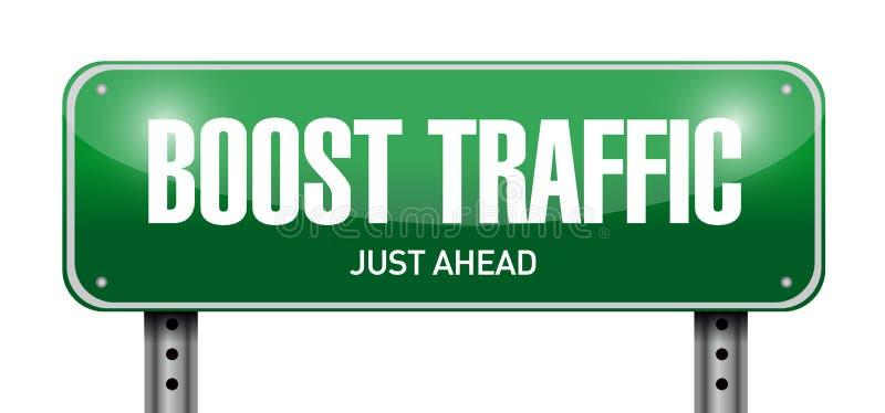 amplifiez la conception d'illustration de panneau routier du trafic illustration de vecteur