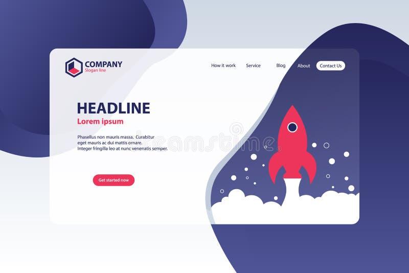 Amplifiez le concept de construction de calibre de vecteur de page d'atterrissage de site Web d'affaires illustration de vecteur