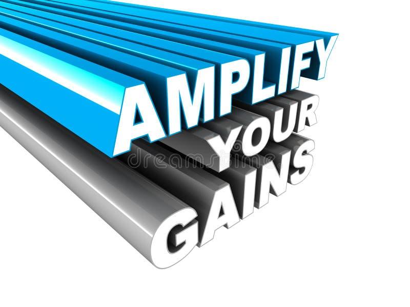 Amplifiez vos gains illustration libre de droits