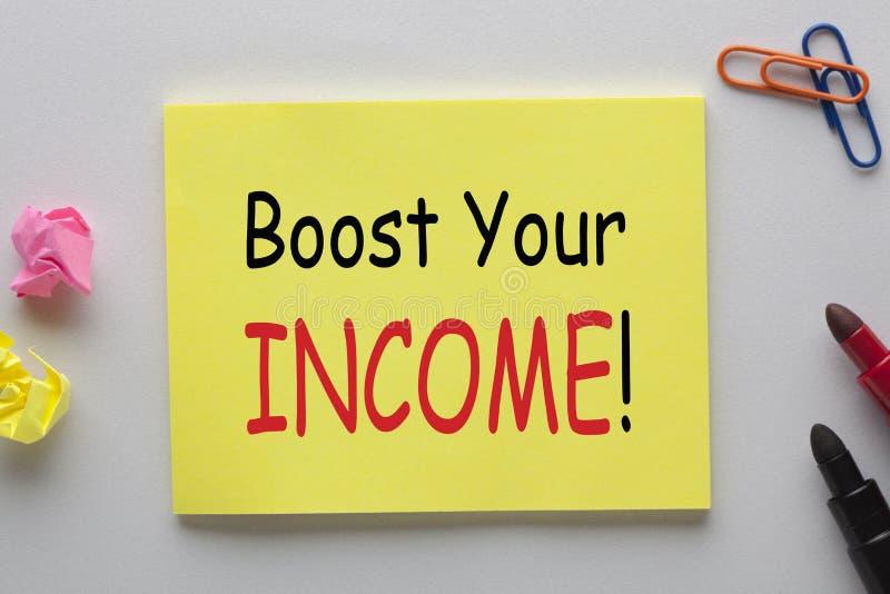 Amplifiez votre concept de revenu photographie stock libre de droits