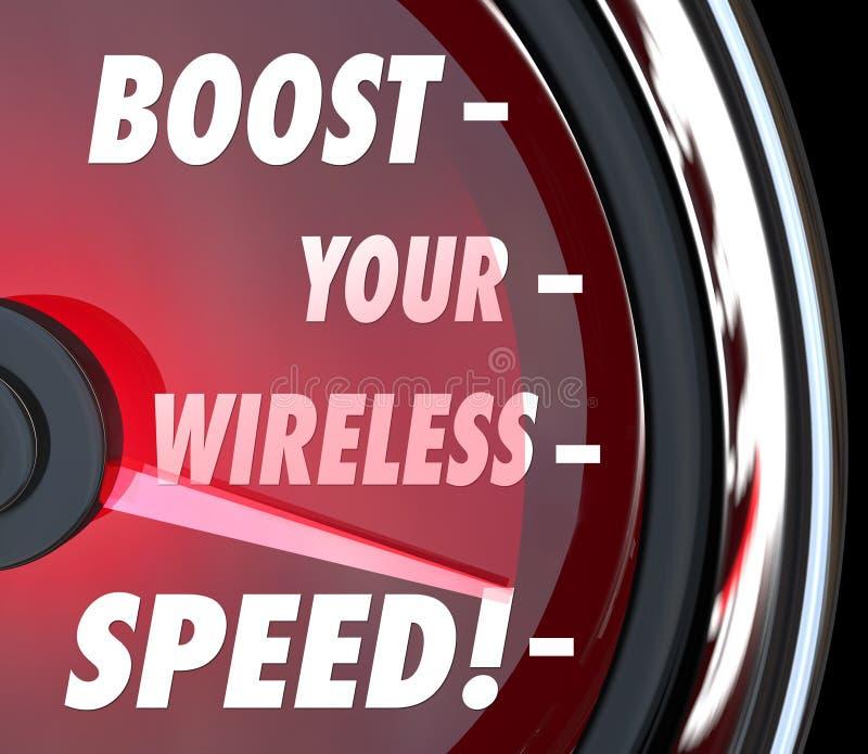 Amplifiez votre tachymètre sans fil de représentation de mesure de vitesse illustration libre de droits