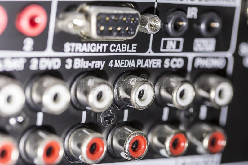 Amplifikatorów włączniki obraz stock
