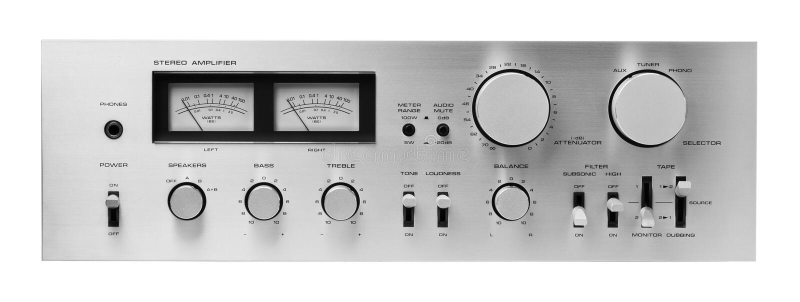 amplifikatoru dźwięk zdjęcia royalty free