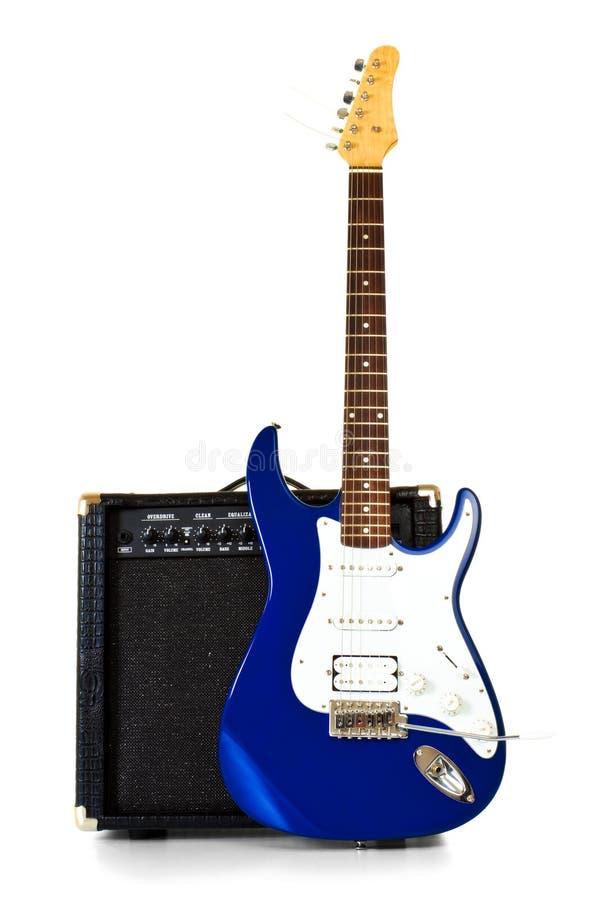 amplifikatoru elektryczny frontowy gitary stojak obraz stock