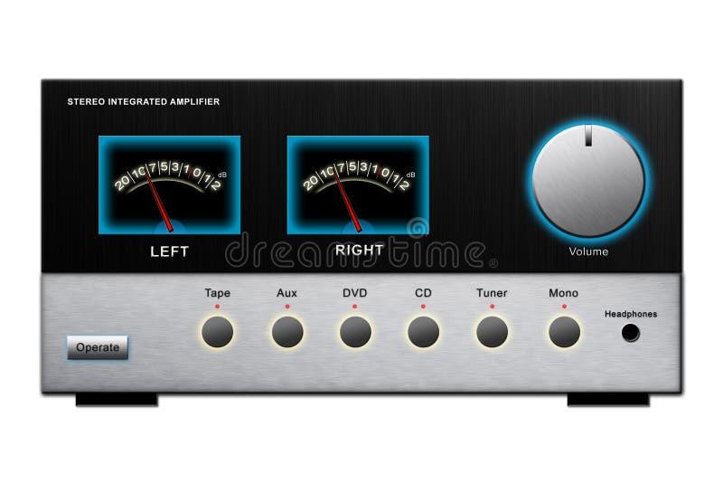 amplifikatoru stereo ilustracja wektor