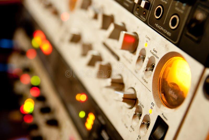 Amplifikatoru wyposażenie zdjęcie stock