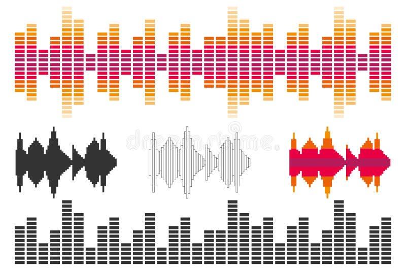 Amplituda dźwięk royalty ilustracja