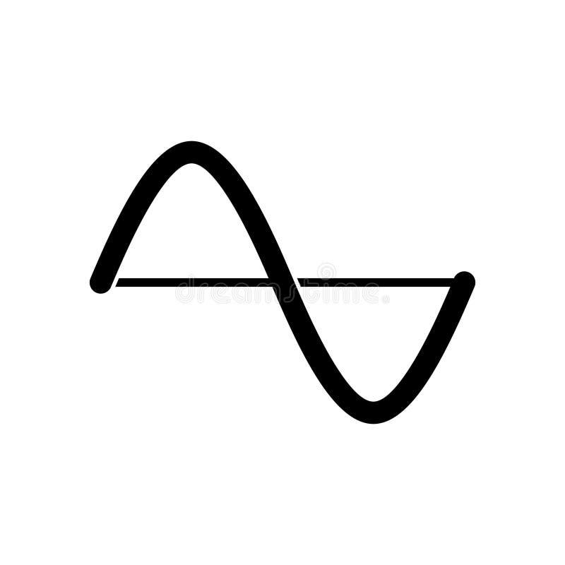 Amplituda wykresu ikona ilustracji