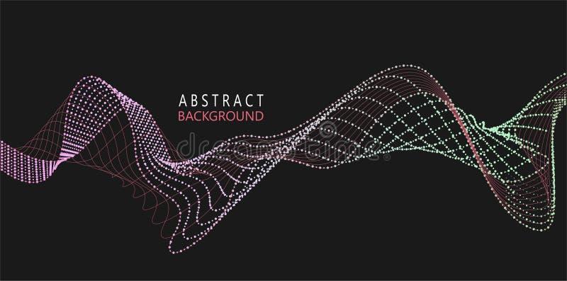 Amplitudy Abstrakcjonistyczny tło z barwione dynamiczne fala royalty ilustracja