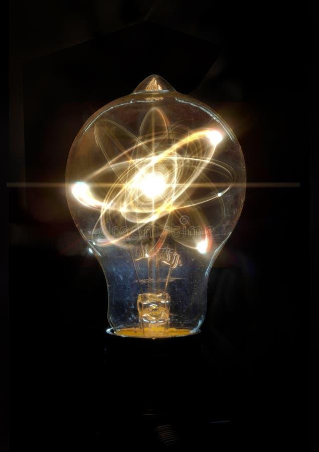 Ampola Atom Particle imagens de stock