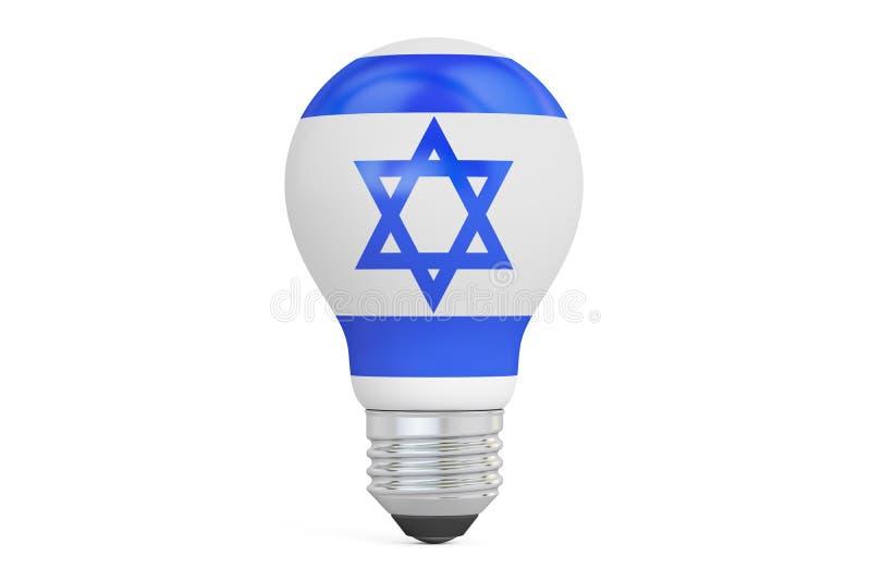 Ampola com bandeira de Israel, rendição 3D ilustração royalty free