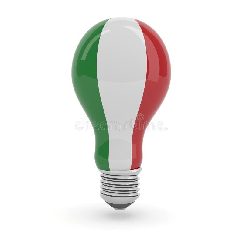 Ampola com bandeira italiana ilustração do vetor