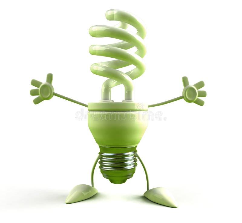 Ampola da economia de energia ilustração stock