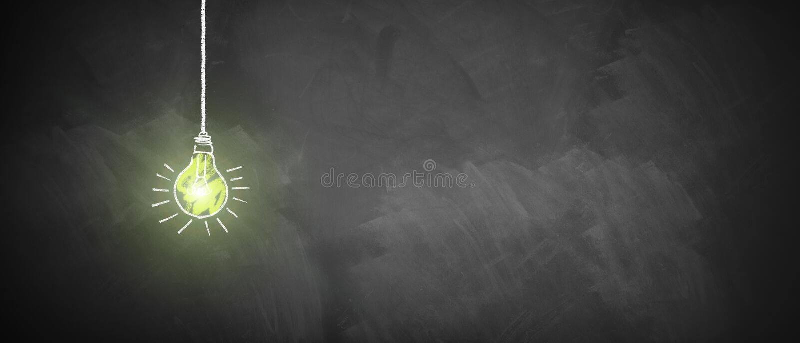 Ampola de brilho em um quadro imagem de stock royalty free