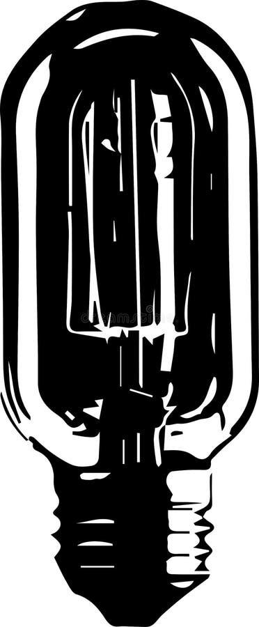 Ampola de logotipo do vetor ilustração stock