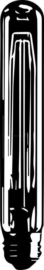 Ampola de logotipo do vetor ilustração do vetor