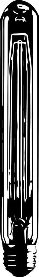 Ampola de logotipo do vetor ilustração royalty free