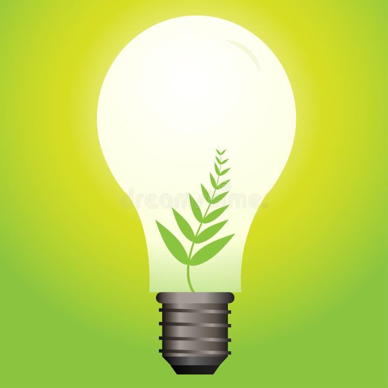 Ampola ecológica ilustração stock