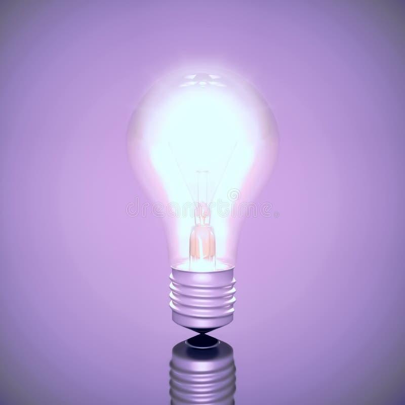 Ampola elétrica brilhantemente de queimadura ilustração royalty free