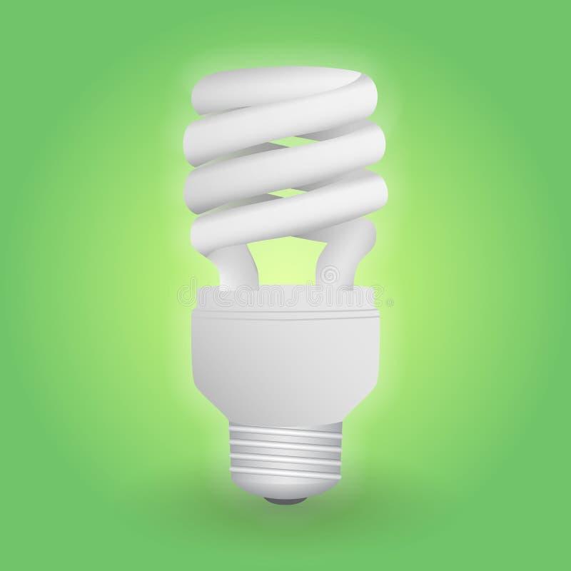 Ampola fluorescente econômica Excepto a lâmpada da energia ilustração stock