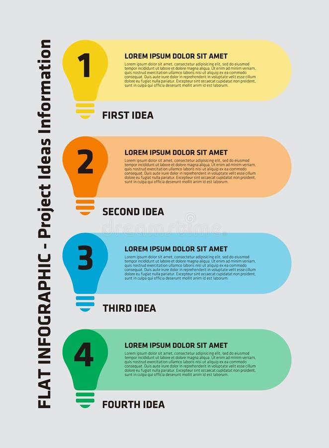 Ampola Infographic de 4 etapas ilustração royalty free