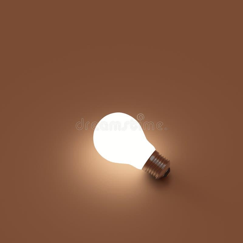 Ampola, isolada, luz sobre fotografia de stock