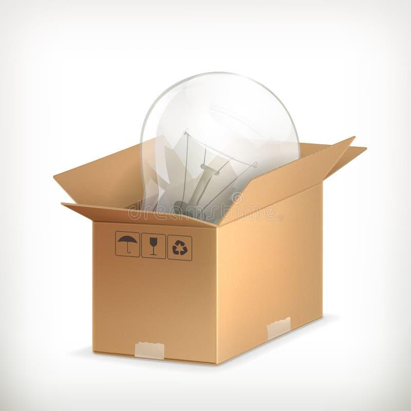 Ampola na caixa ilustração do vetor