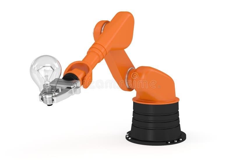 Ampola robótico de terra arrendada de braço ilustração royalty free