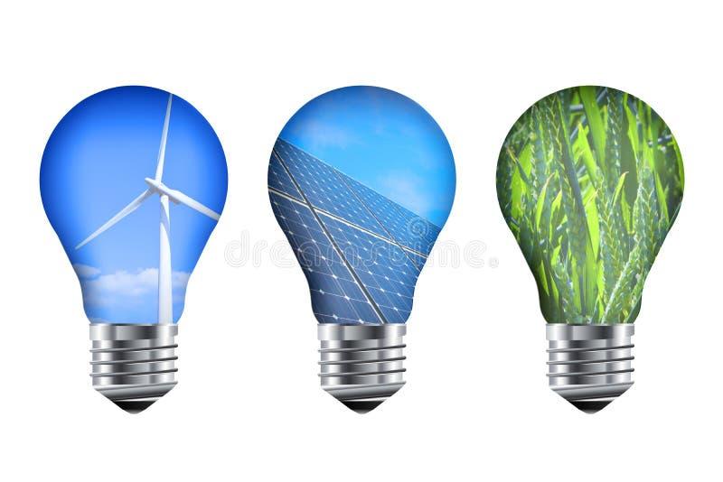 Ampolas da energia ilustração stock