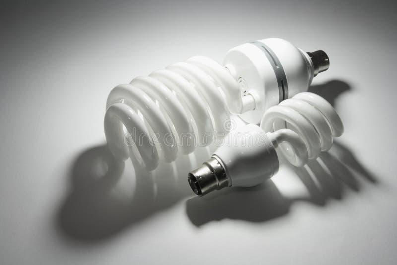 Ampolas fluorescentes compactas imagem de stock royalty free